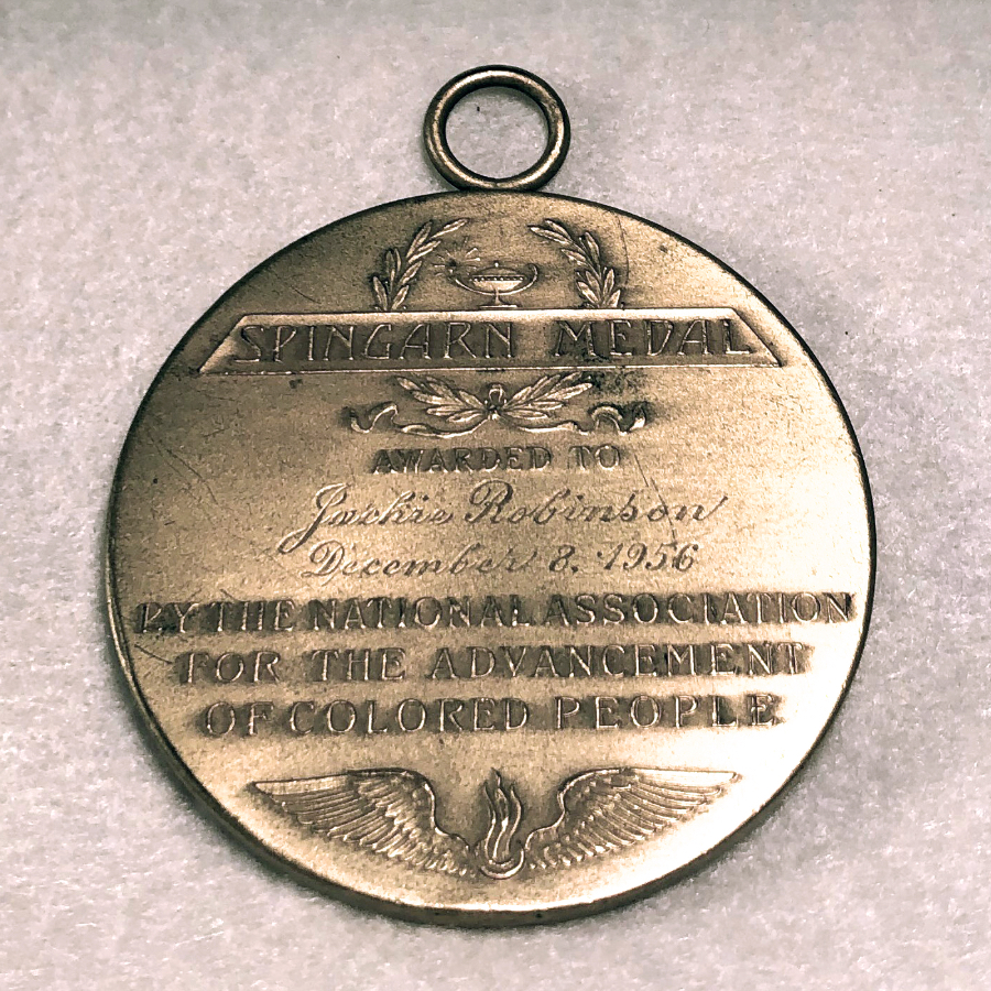 NAACP Spingarn Medal awarded to Jackie Robinson, 1956
